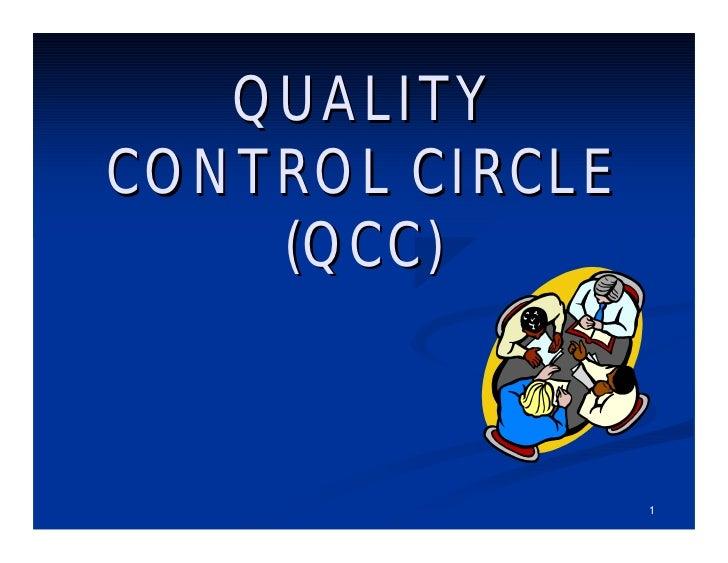 QUALITYCONTROL CIRCLE    (QCC)                 1