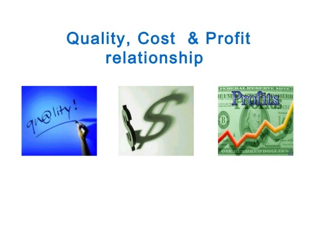 quality costs relationship thesis An attempt is made to evolve a framework for application of  complex cost quality relationship rather than simply a positive linear one.