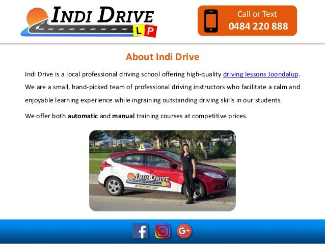 quality driving lessons joondalup rh slideshare net Driving Lessons Block Driving Lesson Vouchers
