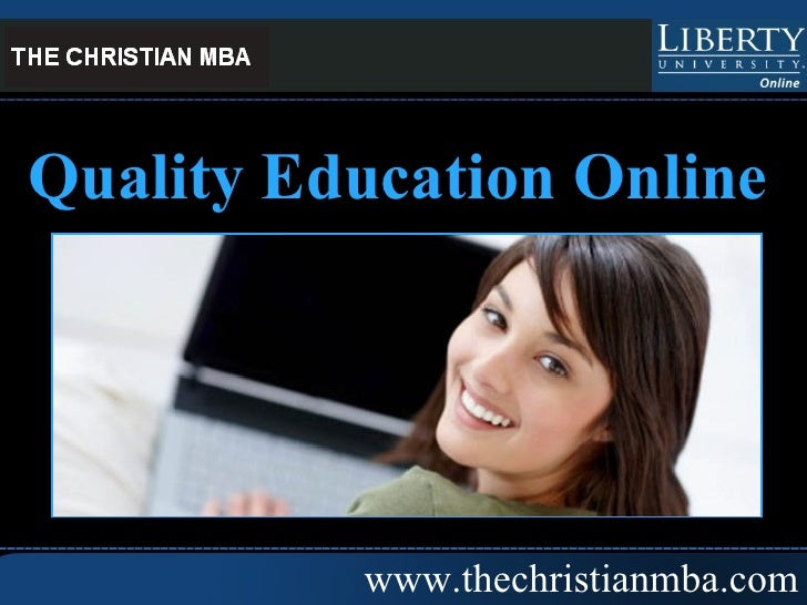 www.thechristianmba.com Quality Education Online