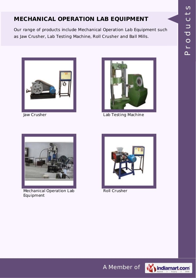 A Member of MECHANICAL OPERATION LAB EQUIPMENT Our range of products include Mechanical Operation Lab Equipment such as Ja...
