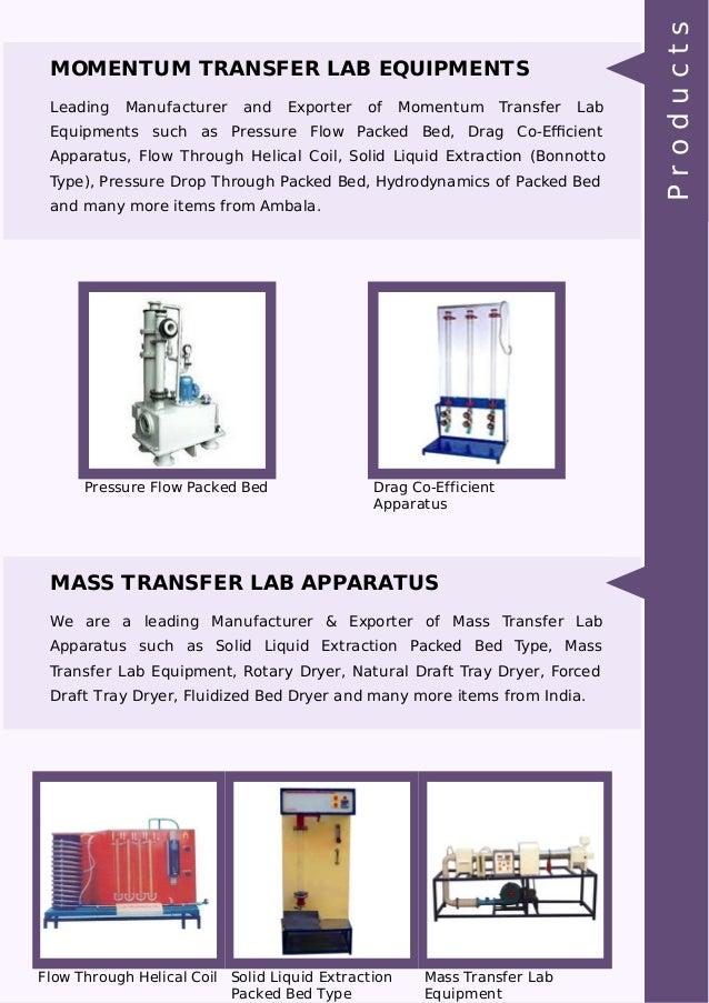 MOMENTUM TRANSFER LAB EQUIPMENTS Leading Manufacturer and Exporter of Momentum Transfer Lab Equipments such as Pressure Fl...