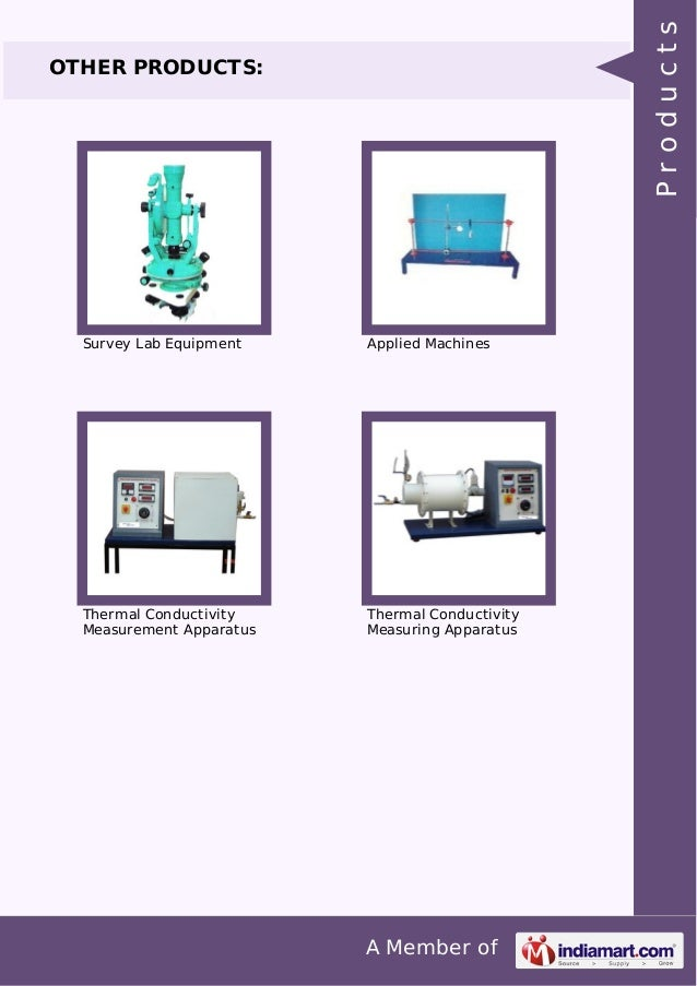 A Member of OTHER PRODUCTS: Survey Lab Equipment Applied Machines Thermal Conductivity Measurement Apparatus Thermal Condu...