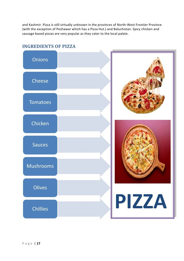 Quality Function Deployment For Pizza