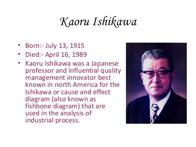 kaoru ishikawa contribution Seven qc tools,flow charts,scatter diagrams,pareto charts,histogram,check sheets,cause and effect diagram,kaoru ishikawa,control charts,quality control tool.