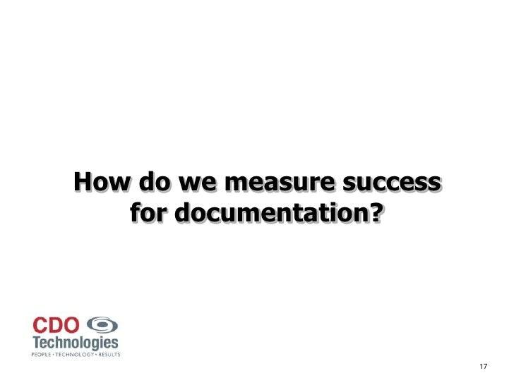 Quality improvement for documentation case study 20120419