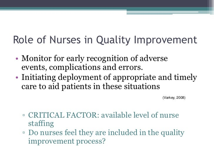 quality improvement in nursing steps