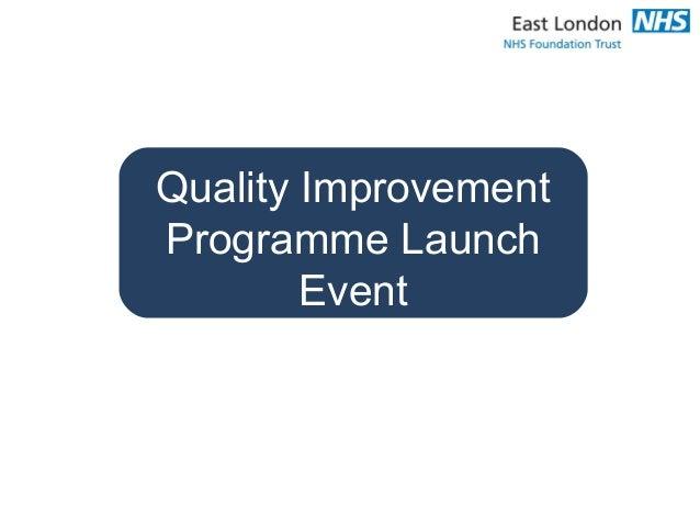 Quality Improvement Programme Launch Event