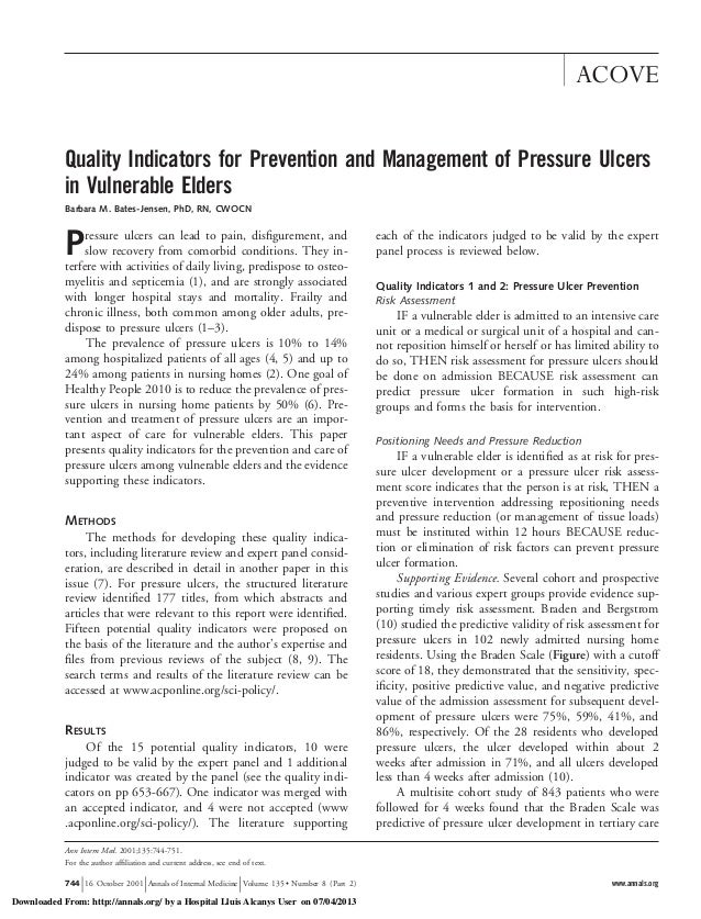 Pressure Ulcer Prevention in Long-Term care