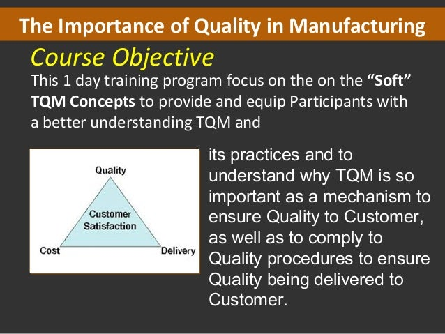 History of Total Quality Management (TQM)
