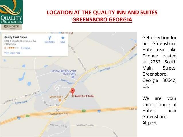 Greensboro Georgia Map.Quality Inn And Suites Greensboro