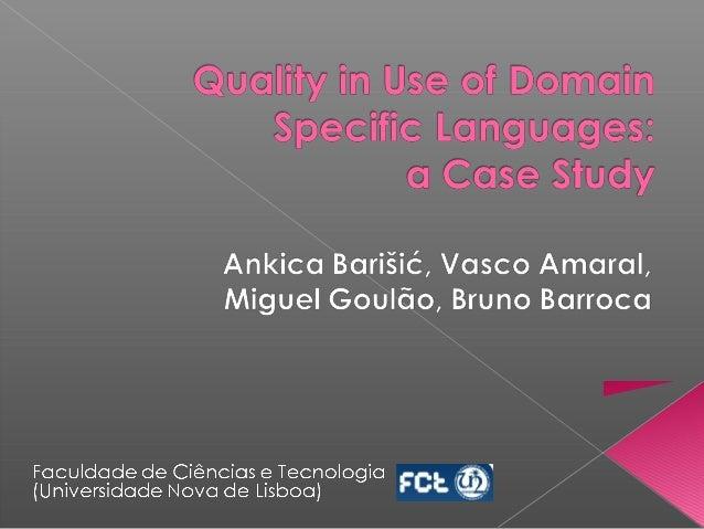 1  Domain Engineering  Language Design  Language Deployment  Language evaluation / testing  Language Implementation