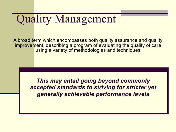 Quality management for diagnostic imaging.