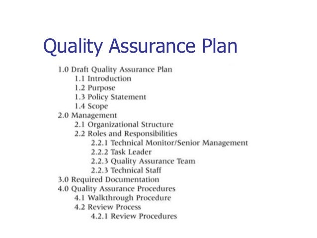 future projects 24 quality assurance plan