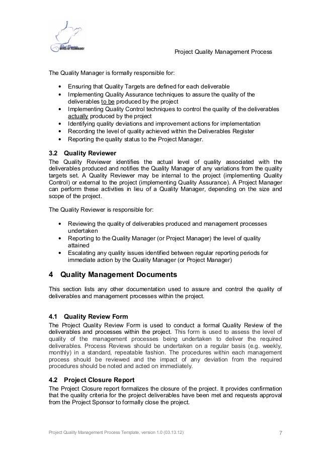 quality management form