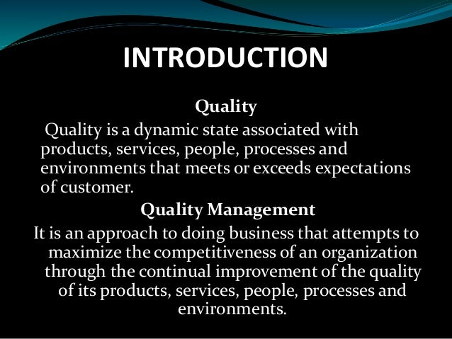 an introduction to the total quality management tqm Introduction and implementation of total quality management (tqm) introduction and implementation of total quality.