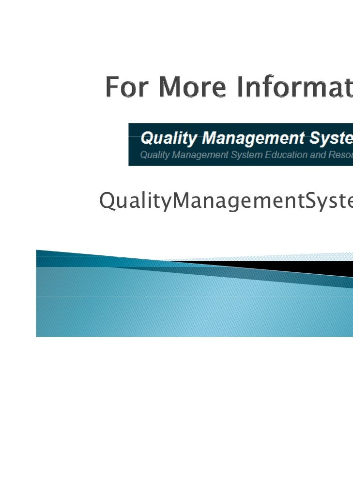 quality management guide line The epa's guidelines for ensuring and maximizing the quality, objectivity, utility, and integrity of information disseminated by the environmental protection agency create a mechanism that enables the public to seek and obtain, where appropriate, correction of information disseminated by the epa that does not comply with omb's or epa's information quality guidelines.