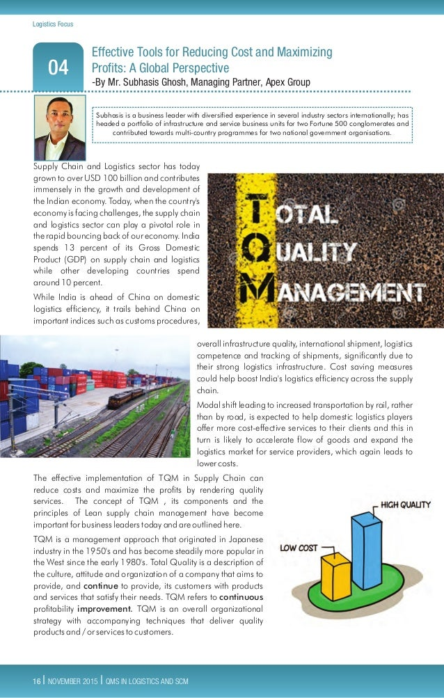 Quality Management Systems In Logistics And Supply Chain Tci Logisi