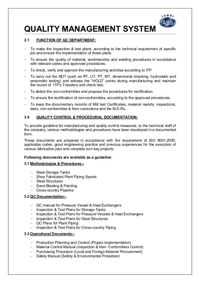 ndt inspection business plan Qa/qc-plan quality assurance / quality control plan page 5 of 7 quality assurance / quality control inspection, issue w001 ndt check.