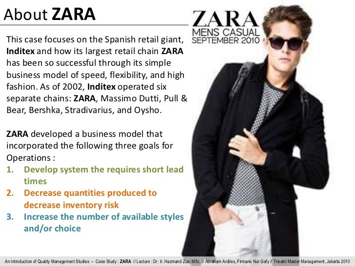 management of spanish retailer zara It is probably the amalgamation of all these qualities that made zara, the spanish clothing brand become the  is now the world's largest retailer and its.