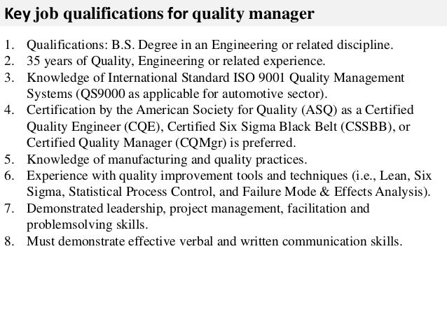 qualifications for a job