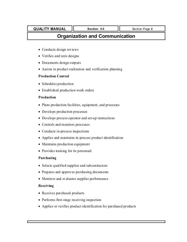 Quality manual for small and medium companies quality manual publicscrutiny Gallery