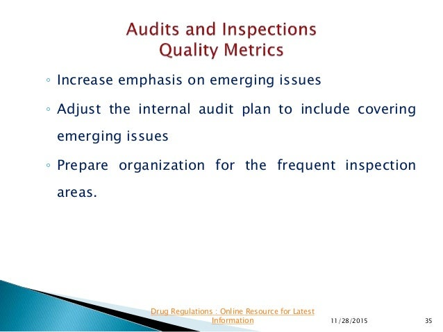 ◦ Increase emphasis on emerging issues ◦ Adjust the internal audit plan to include covering emerging issues ◦ Prepare orga...