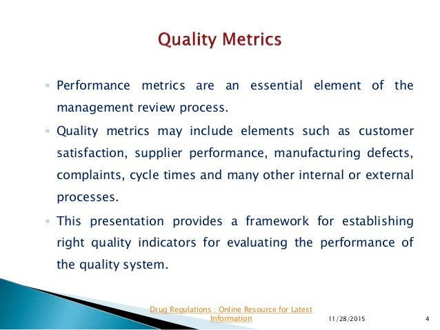 What Are Quality Metrics?