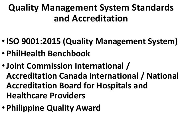 Quality Management System (Institutional Level)