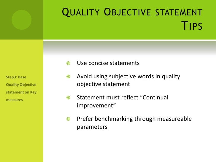 Presentation on establishing quality objectives quality objective thecheapjerseys Gallery