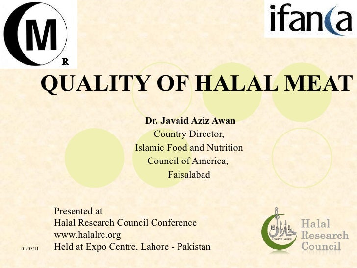 Quality of halal meat