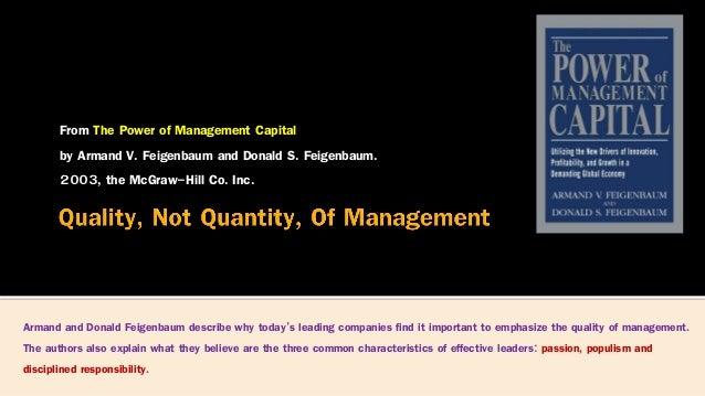 Quality of management Slide 2