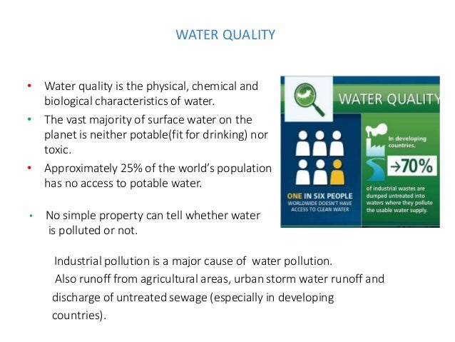 Characteristics Of Safe Drinking Water