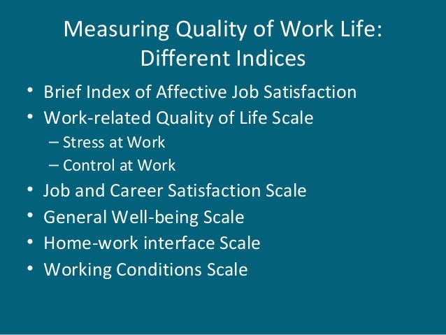 quality of work life questionnaire