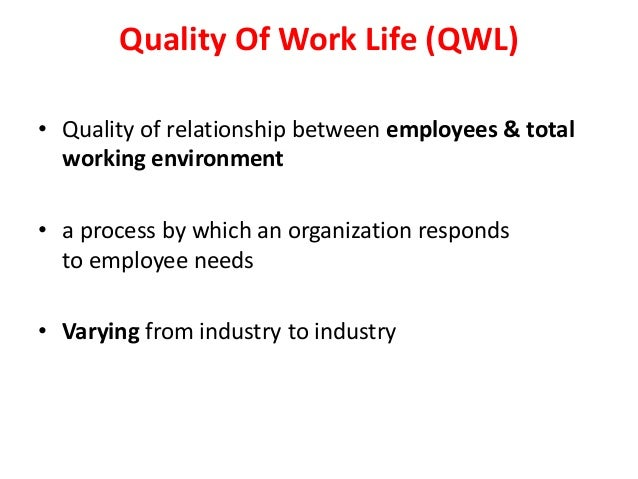 quality of work life thesis