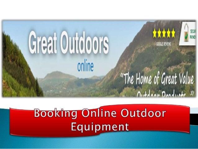 Enjoy Outdoor Activities With Great Outdoors Online greatoutdoorsonline.co.uk Presents