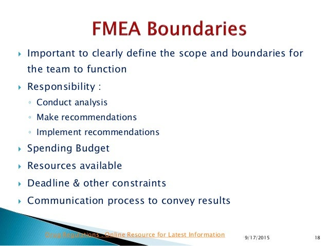  Important to clearly define the scope and boundaries for the team to function  Responsibility : ◦ Conduct analysis ◦ Ma...