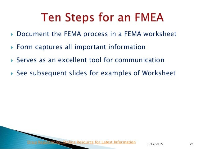 Quality Risk Management Application Of Fmea