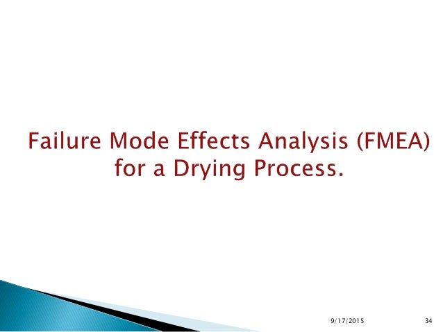 Process Potential Failure Mode Potential Cause S P D RPN 1. Set up Contamination Disheveled gown of operator Insufficient ...