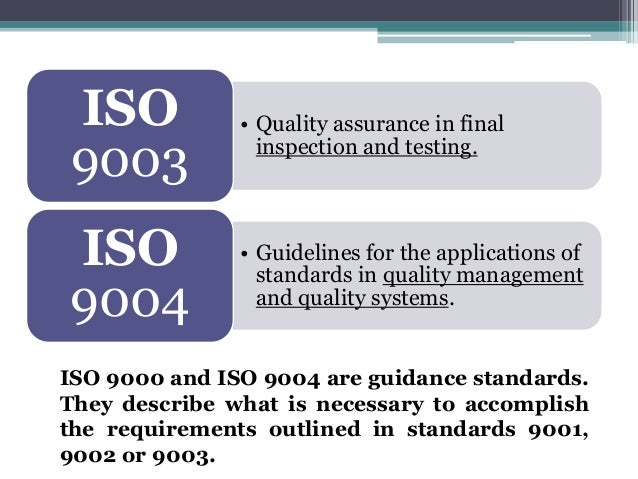 iso 900 family of standards