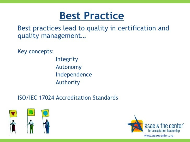 quality standards for certification programs