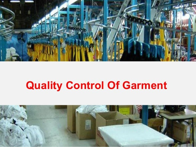 Quality Control Of Garment