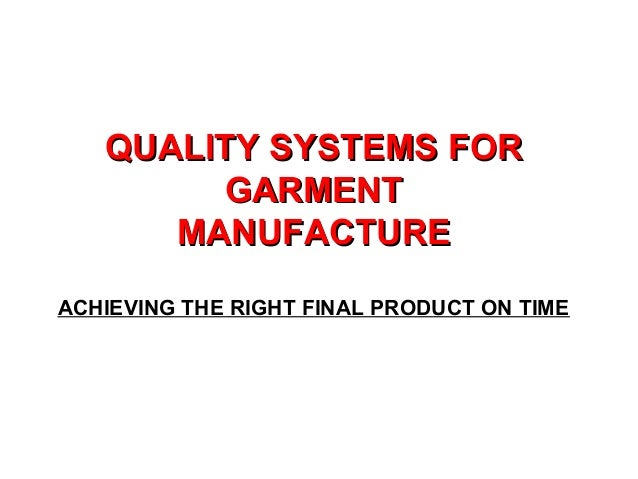 Quality Control Of Garment  Slide 2