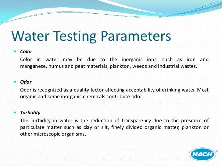 Measuring Turbidity In Drinking Water