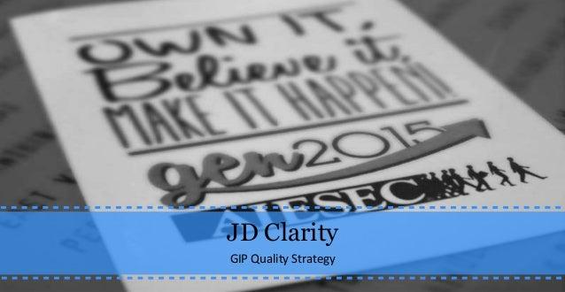 JD Clarity GIP Quality Strategy