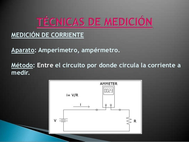 MEDICIÓN DE VOLTAJEAparato: Voltímetro, voltmetro ó voltmeter.Método: A través del elemento por donde circula unacorriente.