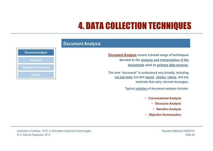 Types of Material in Document Analysis Qualitative Research