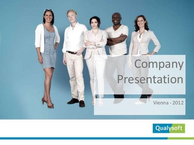 CompanyPresentation      Vienna - 2012