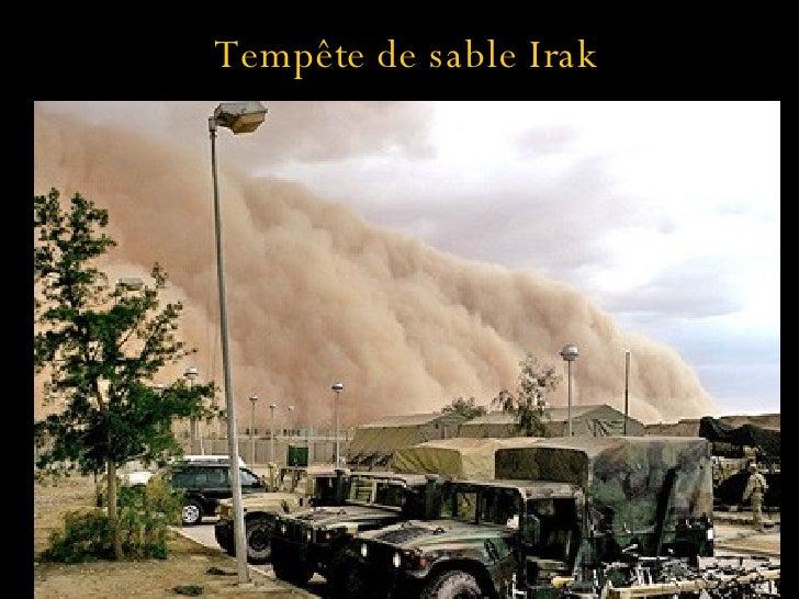 Tempête de sable Irak