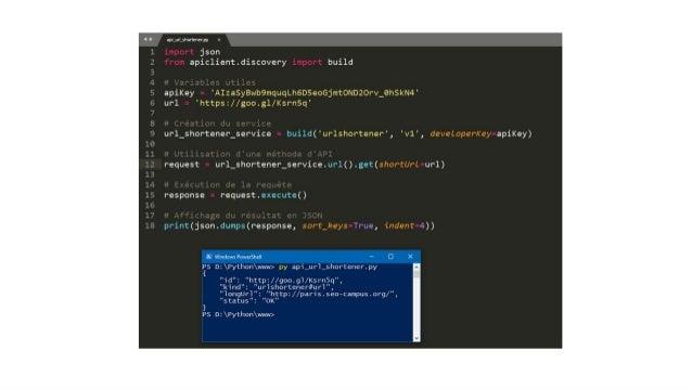 #seocamp Exemple simple de l'API URL SHORTENER PHP API CLIENT version beta ! Interactioncouranteavec laplupartdes framewor...
